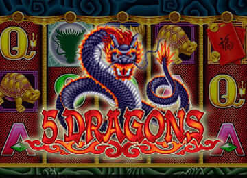 Play 5 Dragons online free by Aristocrat